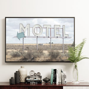 'Motel' Roadside Sign Interior Decor Print