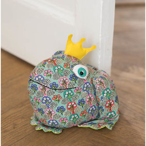 Frog Doorstop - winter sale