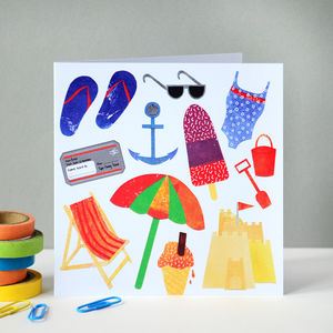 Summer Greetings Card - birthday cards