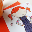 Illustrated Little Girl Notecards