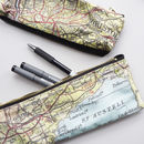 Personalised Map Print Pencil Case