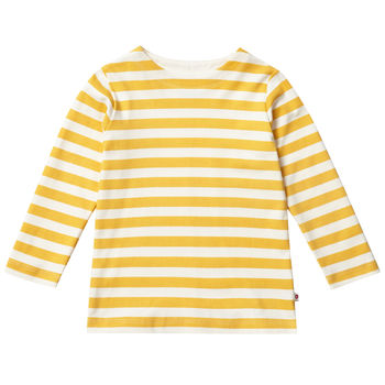 Unisex Kids Long Sleeved Mustard Yellow Stripe Top