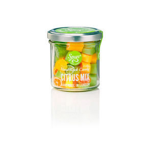 Citrus Mix Hard Rock Candy In A Jar - chocolates & confectionery