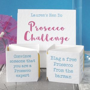 Prosecco Challenge Pop Up Hen Party Game - hen party ideas