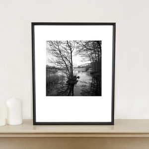 Lake, Wivenhoe, Essex, Art Print