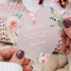 Floral Heart Keepsake For Mothers Day