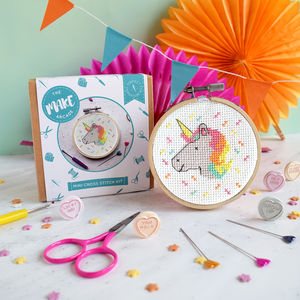 Unicorn Mini Cross Stitch Craft Kit - creative kits & experiences
