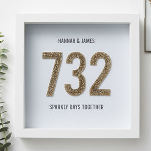 Personalised Days Together Framed Print - best valentine's gifts for her