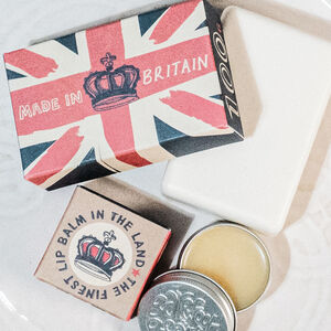 Great Britain Natural Soap Bar And Lip Balm Duo