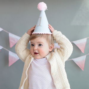 Babys First Birthday Party Hat By Postbox