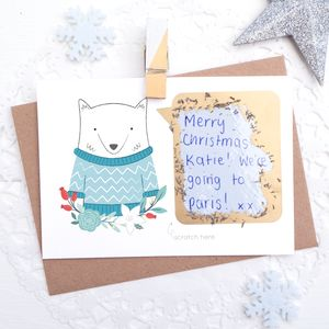Personalised Christmas Scratch Card - cards