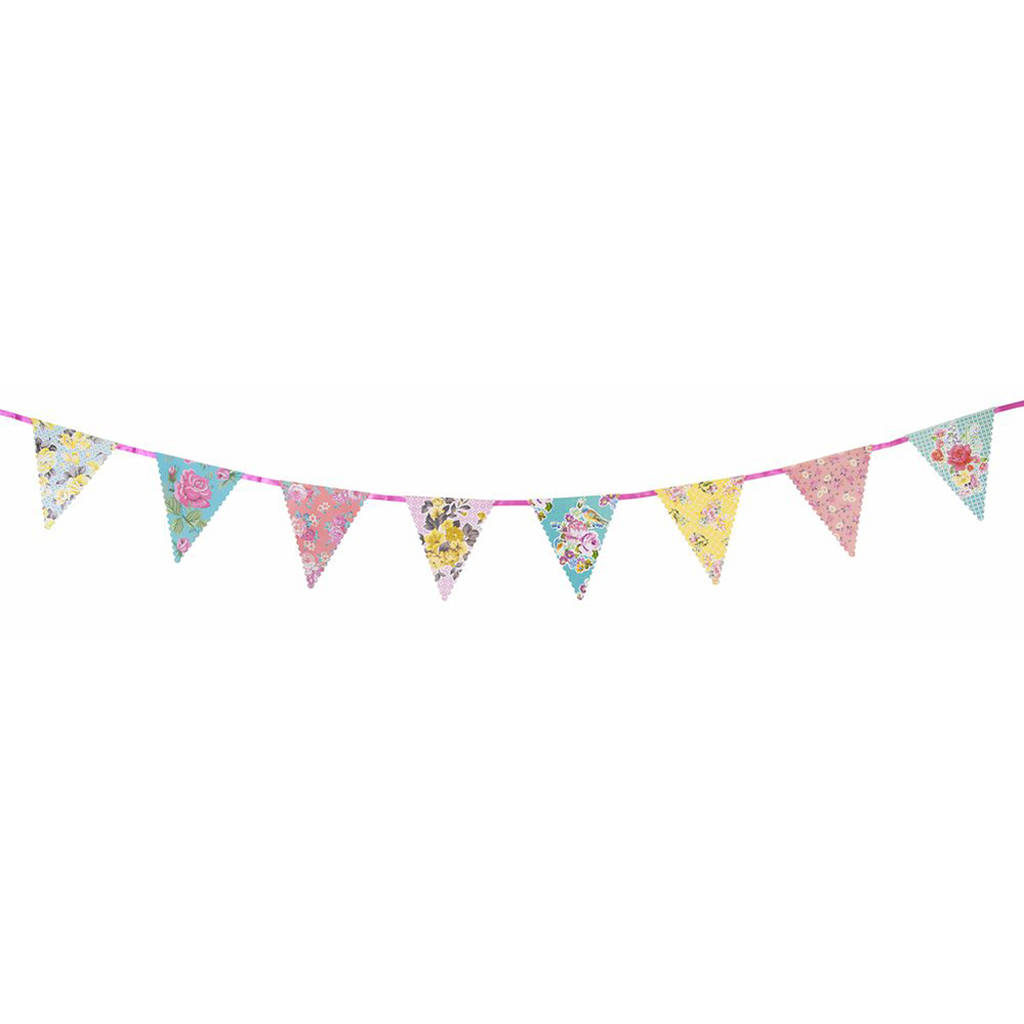 vintage floral bunting by postbox party