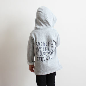 Unisex 'Hi' Alphabet Zip Hoody - gifts for children
