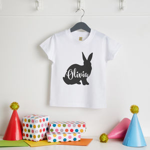 Personalised Easter Rabbit T Shirt - clothing