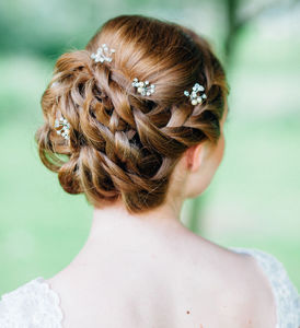 Small Crystal Hair Pins - bridal hairpieces