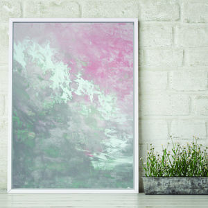 'Clara Foxlore' Framed Giclée Abstract Canvas Print Art - wish list