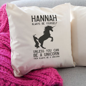 Personalised Unicorn Cushion - living room