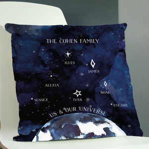 Personalised Universe Family Cushion