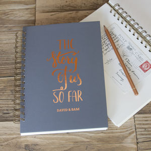 Personalised The Story Of Us So Far Memory Book - by year