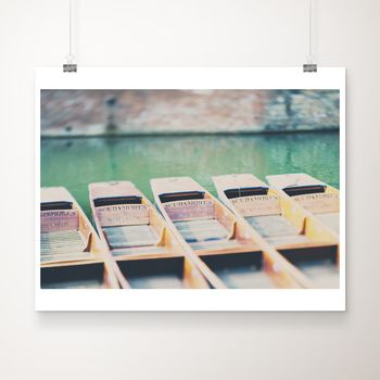 Cambridge Punts Photographic Print