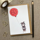 Personalised 60th Birthday Card Dog Design