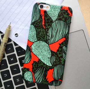 Abstract Cactus Print Mobile Phone Case - womens