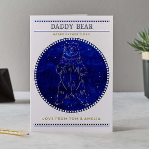 Daddy Bear Constellation Father's Day Card