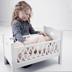 Cam Cam Traditional Wooden Dolls Bed With Mattress - toys & games