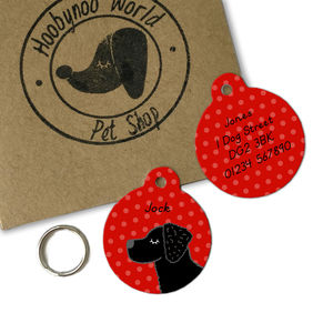 Curly Coated Retriever Personalised Dog ID Tag - pet tags & charms
