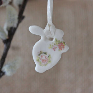 Mini Porcelain Bunny Decoration