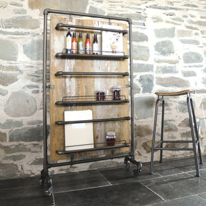 Industrial Vintage Magazine Pantry Rack Wide - magazine racks