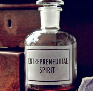 Etched Bottle 'Entrepreneurial Spirit' - the apothecary