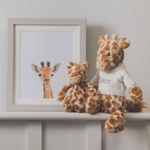 Personalised Bashful Giraffe Soft Toy
