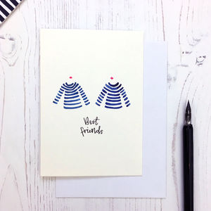 Breton Design Best Friend Card