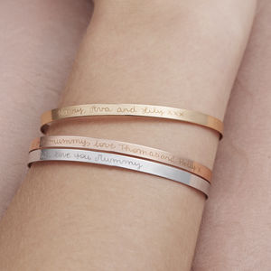 Personalised Flat Bangle - personalised mother's day gifts