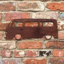 Rusted Metal Camper Van Sign