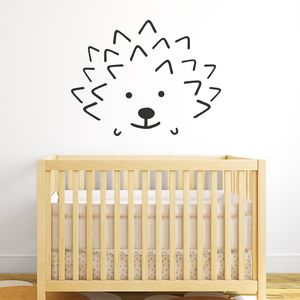 Hedgehog Face Wall Sticker