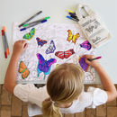 Colour In And Learn Butterfly Placemat
