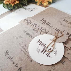 Botanical Notebook Wedding Stationery - new in wedding styling