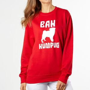 Bah Humbug Humpug Pug Christmas Jumper - christmas jumpers