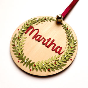 Personalised christmas pendant by the little paper hut personalised christmas pendant by the little paper hut notonthehighstreet aloadofball Choice Image
