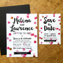 Colour Pop Confetti Wedding Stationery Range
