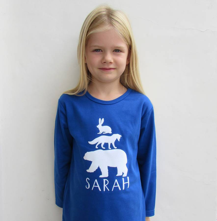 Personalised Pyjamas With Arctic Animals