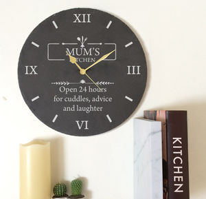 Mother's Day Personalised Clock Mum's Kitchen - clocks