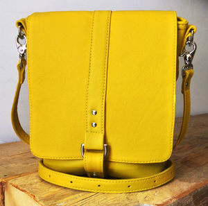 Merritt Leather Messenger Bag - spring brights