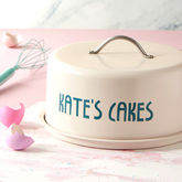 Personalised Dome Cake Tin - christmas