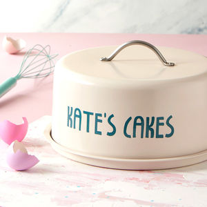 Personalised Dome Cake Tin - home