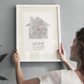 'Home Is Where The Heart Is' Map Print - prints & art