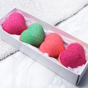 Fruit Blast Bath Bomb Hearts Collection - mum loves pampering