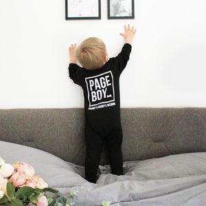 Personalised 'Page Boy' Baby Romper - page boy gifts